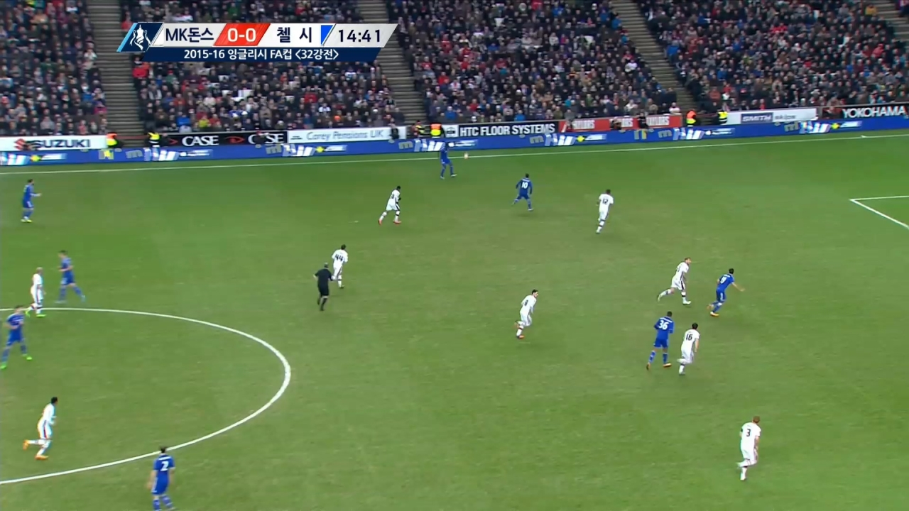 15-16 잉글랜드 FA컵 13회 다시보기:  [4R] MK돈스 vs 첼시 SBS Sports